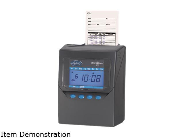 Lathem Time 7500E Totalizing Time Recorder, Gray, Electronic, Automatic photo