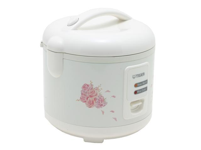 Tiger 5.5 Cups Electric Rice Cooker and Warmer with Steam Basket, White JAZ-A10U photo