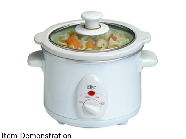 Elite Cuisine MST-250XW 1.5Qt. Mini Slow Cooker, White photo