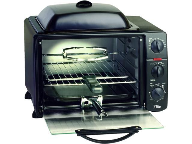 Maxi-Matic 6 Slice Toaster Oven Broiler w/ Rotisserie, Grill & Griddle, Black ERO-2008S photo