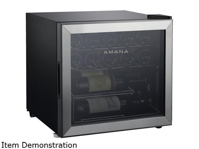 Amana AMAW16S2MS Single-Zone Wine Cooler with Mechanical Temperature Control Stainless photo