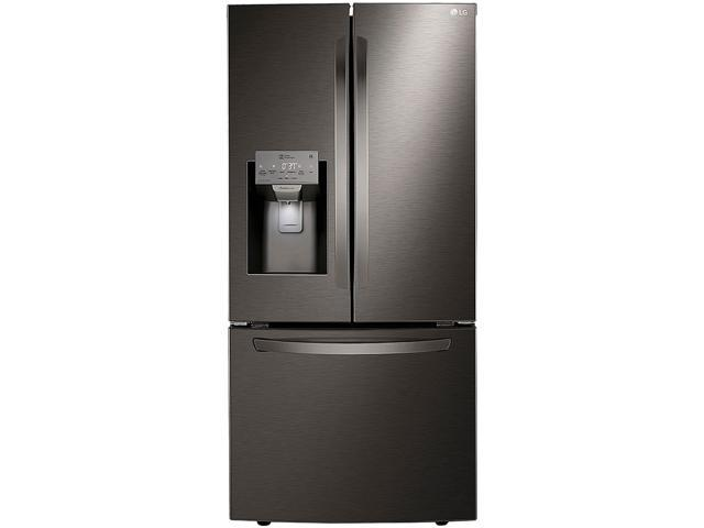 LG LRFXS2503D 25 cu. ft. Smart Wi-Fi Enabled French Door Refrigerator - Black Stainless Steel photo