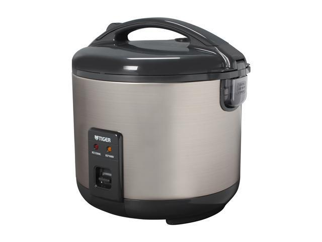 Tiger JNP-S18U Rice Cooker and Warmer, Stainless Steel Gray, 20 Cups Cooked /10 Cups Uncooked photo