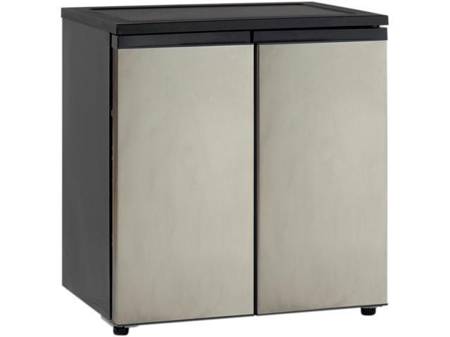 Avanti RMS551SS 5.5 Cu. Ft. Side by Side Refrigerator/Freezer, Black w/Stainless Steel Doors photo