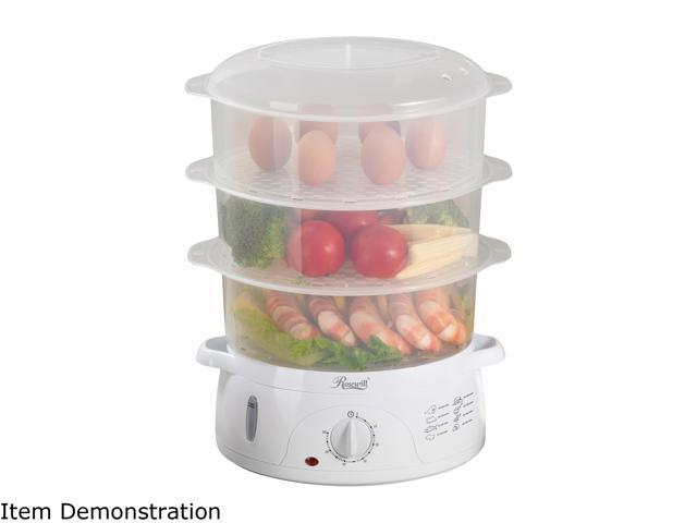 Rosewill RHST-15001 3-Tier Electric Food Steamer BPA-free, 9.5-Quart (9L) Capacity Cooking Timer Rice Bowl Included photo
