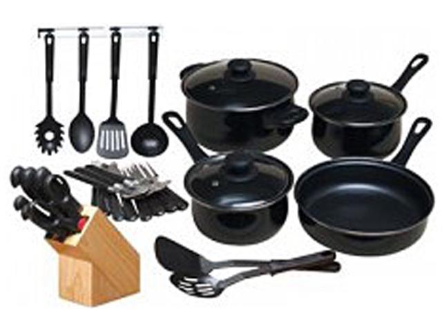 Gibson Home 64269.32PC Nonstick Cookware Set Black photo