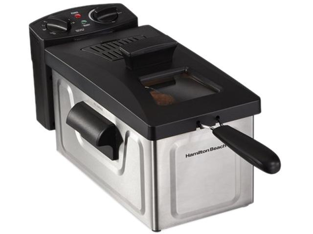 Hamilton Beach 8 Cup Fast Cooking Stainless Steel Deep Fryer with Lid 35200 photo
