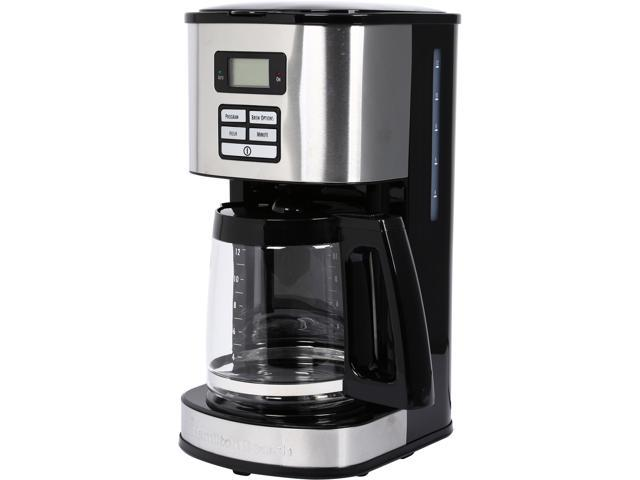 Hamilton Beach 49618 Digital 12-Cup Programmable Coffee Maker Coned Basket LCD photo