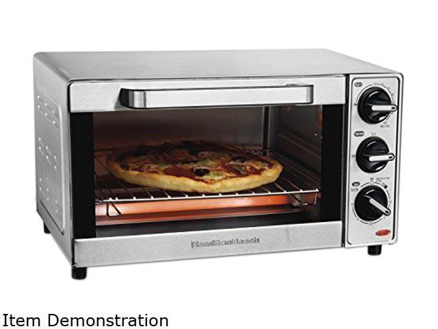 Hamilton Beach 31401 Silver Stainless Steel 4 Slice Toaster Oven Broiler photo