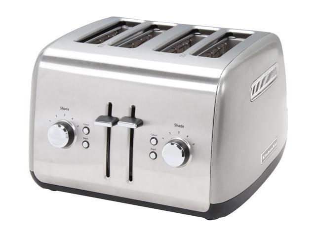 KitchenAid KMT4115CU Countour Silver 4 Slice Toaster photo