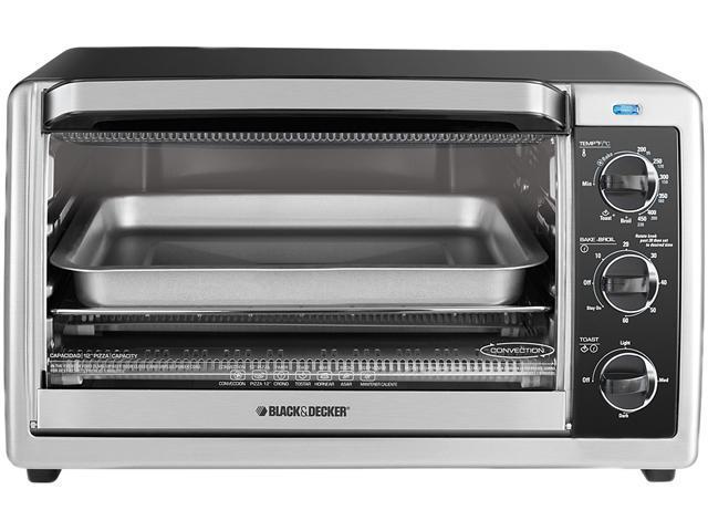 Black & Decker TO1675B 6-Slice Countertop Convection Toaster Oven, Black/Silver photo