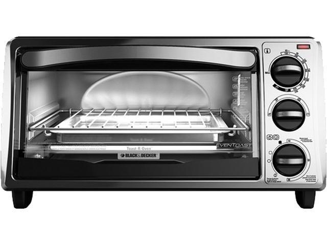 Black & Decker TO1313SBD 4-Slice Toaster Oven, Silver/Black photo