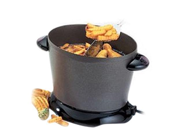 PRESTO 05450 DualDaddy Electric Deep Fryer, Black photo