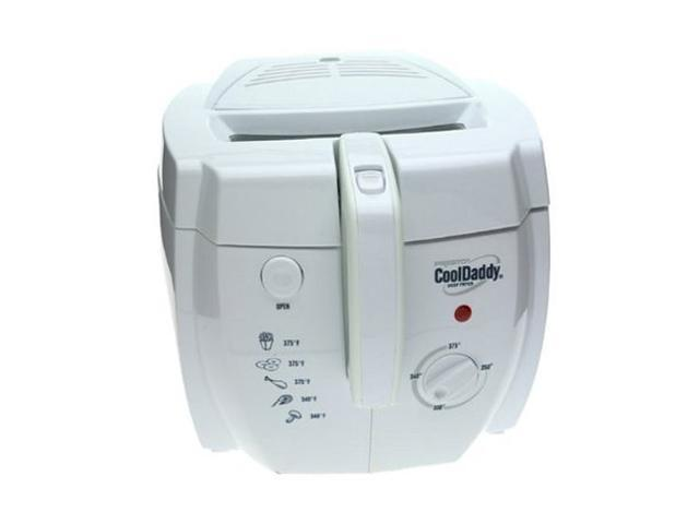 PRESTO 05443 CoolDaddy Cool-touch Electric Deep Fryer, White photo