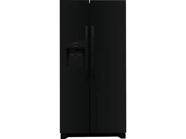 Frigidaire FRSS2323AB 22.3 Cu. Ft. 33 inch Standard Depth Side by Side Refrigerator - Black photo