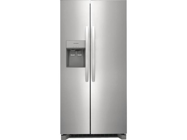 Frigidaire FRSS2323AS 22.3 Cu. Ft. 33 inch Standard Depth Side by Side Refrigerator - Stainless Steel photo