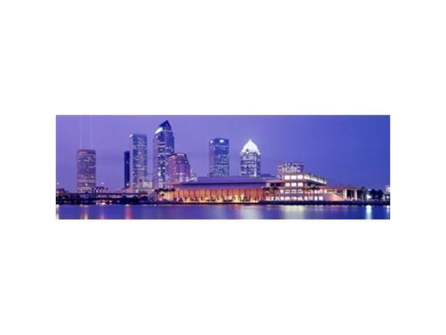 Panoramic Images PPI62426L Building at the waterfront Tampa Florida USA Poster Print by Panoramic Images - 36 x 12 (Arts & Entertainment Arts & Crafts) photo