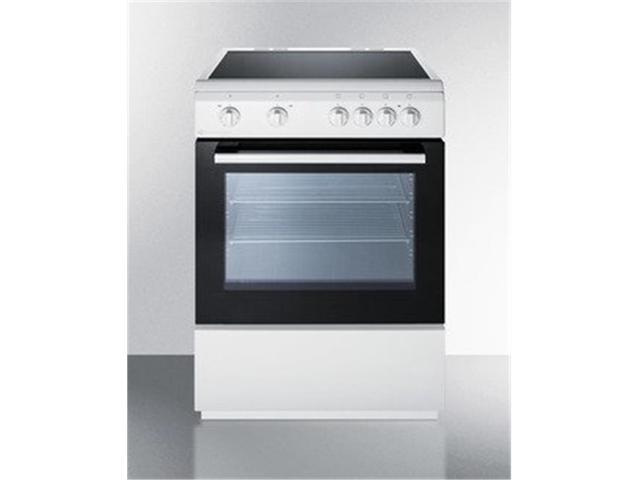 Summit Appliance CLRE24WH 24 in. Slide-in Electric Range, White photo