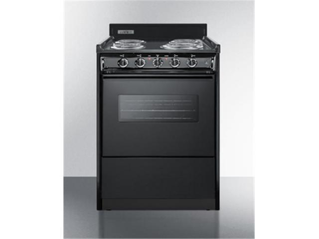 Summit Appliance TEM610CW 24 in. Wide Electric Range with Oven Window, Interior Light & Lower Storage Compartment, Black photo