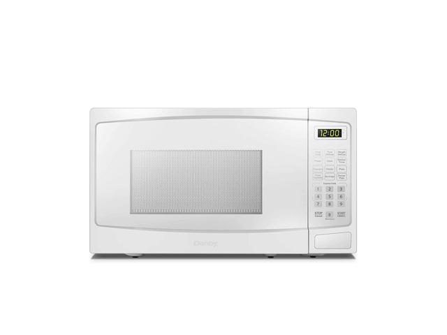 Danby 1000W 1.1 Cubic Feet Convenient User-Friendly Countertop Microwave, White photo