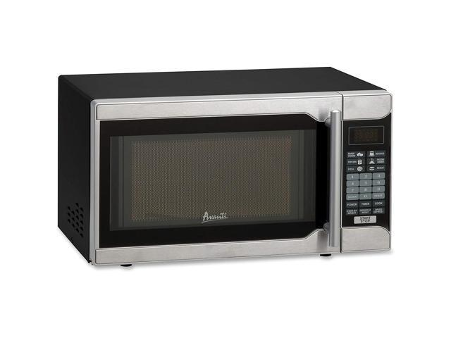 Avanti MO7103SST 0.7 Cubic Foot Capacity Microwave Oven - Black/Silver photo
