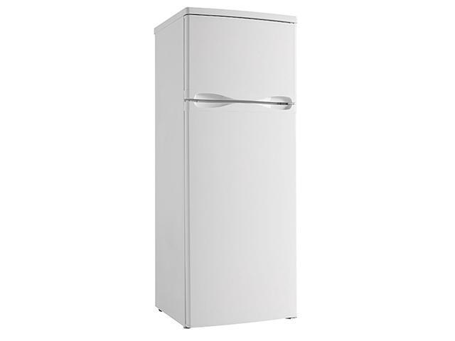 Danby 7.3 Cubic Feet 2 Door Glass Shelf Apartment Sized Refrigerator, White photo