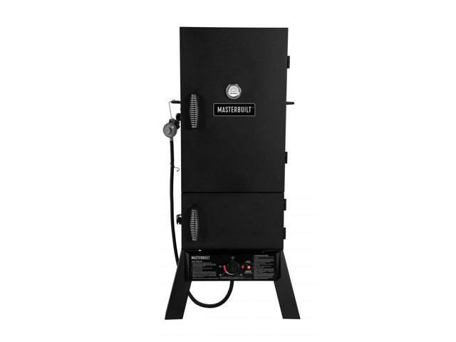 Masterbuilt 30-Inch Outdoor Vertical Propane Gas BBQ Meat Smoker Grill, Black photo