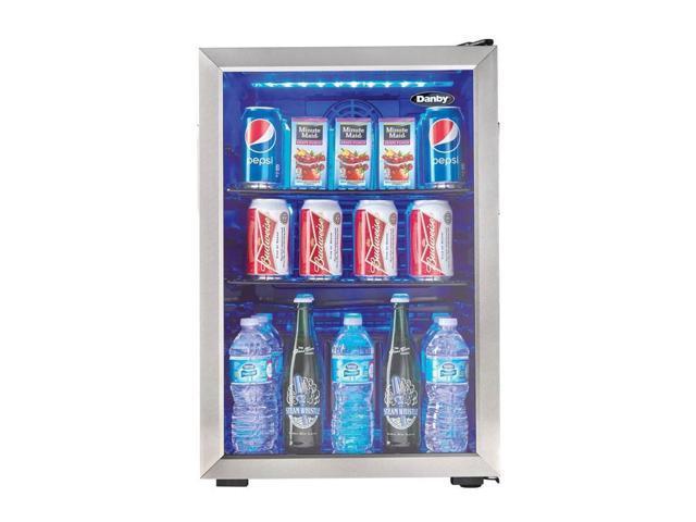 Danby 95 Can 2.6 Cu. Ft. Free Standing Beverage Center Mini Fridge w/ Glass Door photo