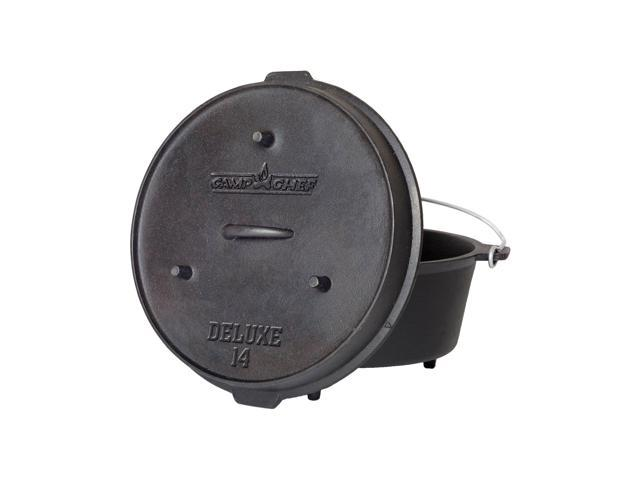 Camp Chef 12 Quart Cast Iron Deluxe Dutch Oven Camping Skillet photo