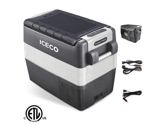 ICECO JP50 12v Portable Freezer Fridge Cooler, 53 Quart (50 Liter) Compact Refrigerator, DC 12/24 V, AC 100-240V, For CAR, Truck, Vehicle, Van. photo