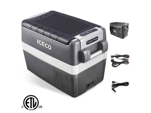 ICECO JP40 12v Portable Freezer Fridge Cooler, 43 Quart (40 Liter) Compact Refrigerator, DC 12/24 V, AC 100-240V, For CAR, Truck, Vehicle, Van. photo