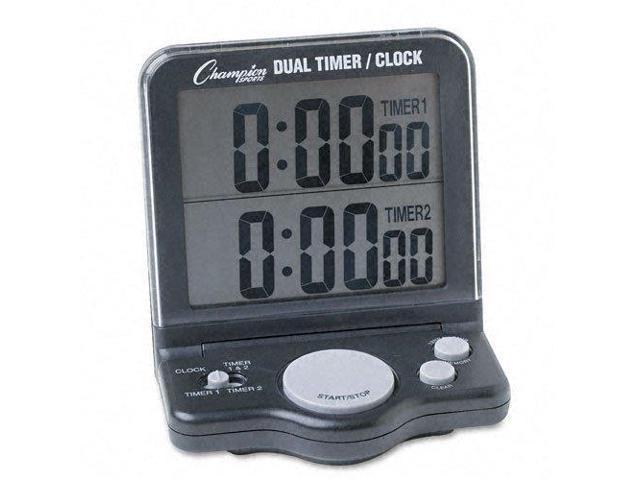 Champion Sports Dual Timer/Clock w/Jumbo Display LCD 3 1/2 x 1 x 4 1/2 DC100 photo