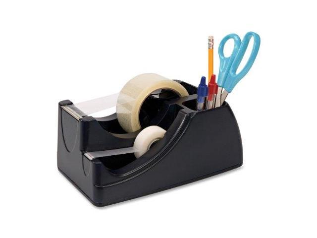 Officemate Recycled 2-in-1 Heavy Duty Tape Dispenser 1' and 3' Cores Black 96690 photo