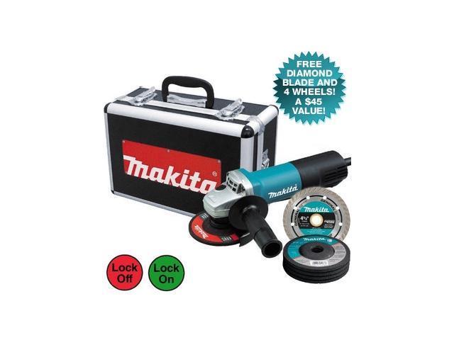 Makita 4-1/2 In. 7.5-Amp Cut-Off/Angle Grinder 9557PBX1 photo