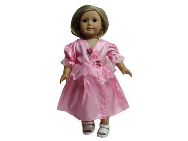 Doll Clothes Super store Pink Chiffon and Silk Party Dress for All 18 Inch Girl Dolls (684191406119 Home & Garden Household Supplies) photo