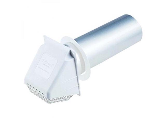 Deflecto Dryer Vent Hood, 4, White (RVHAW4) photo