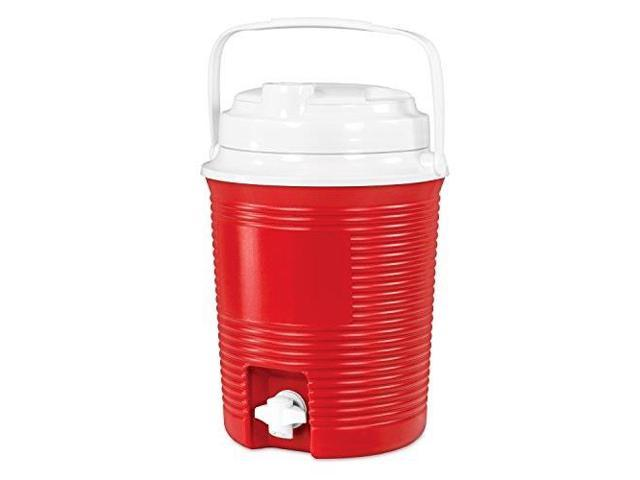 innovative technology 6.5liter round cooler with waterproof bluetooth speakers and builtin 4,400mah power bank, red (816203016836 Electronics Audio Audio Components) photo