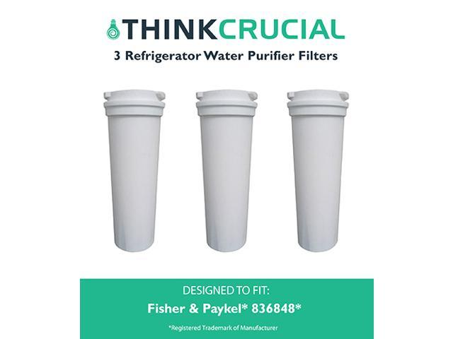 3 Fisher & Paykel 836848 Refrigerator Water Purifier Filter Fits E402B, E442B, E522B & RF90A180DU, Designed & Engineered by Think Crucial photo