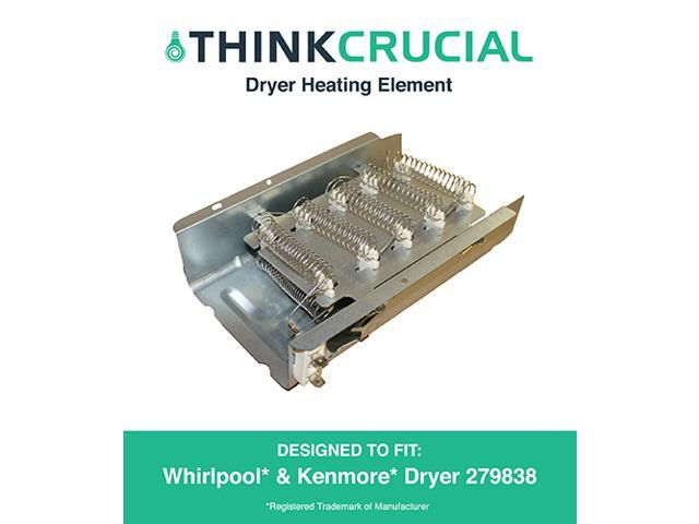 Dryer Heating Element fits Whirlpool & Kenmore 3403585, 8565582, PS3343130 & AP3094254, Designed & Engineered by Think Crucial photo