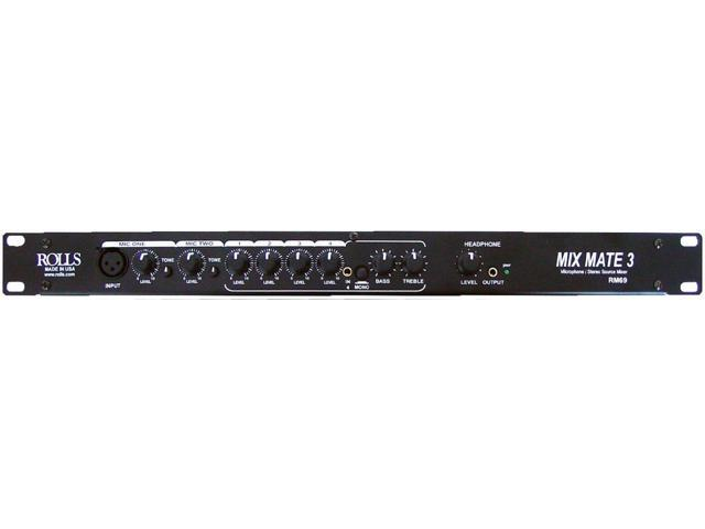 Rolls Mix Mate 3 6-Channel Stereo Line / Microphone Mixer #RM69 photo
