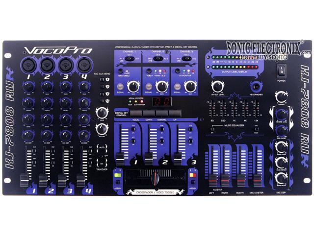 VocoPro KJ-7808 RV Professional KJ/DJ/VJ Mixer with DSP Mic Effect, and Digital Key Control photo