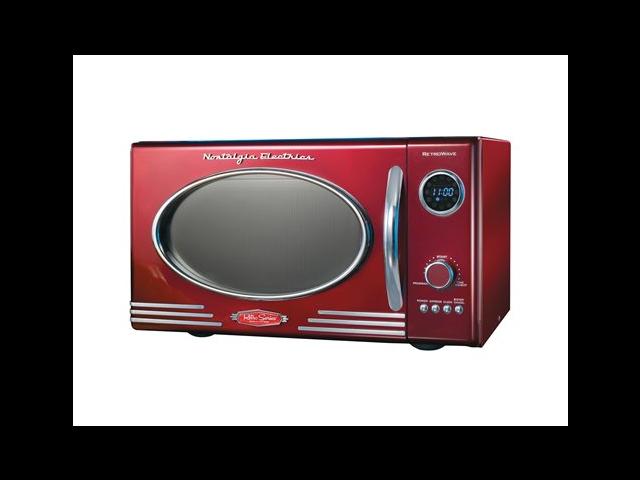 Nostalgia Electrics 9-cu. ft. Retro Series™ Microwave Oven, Red photo