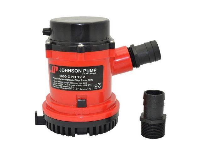 Johnson Pump 1600 GPH Bilge Pump 1-1/8 Hose 12V photo