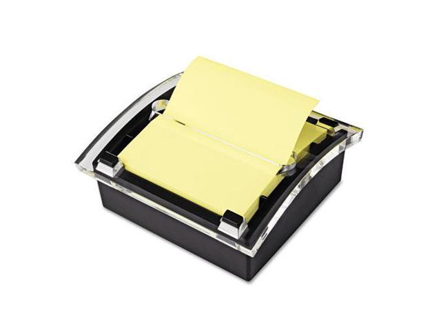 Post-it Clear Top Pop-up Note Dispenser for 3 x 3 Self-Stick Notes Black/Clear photo