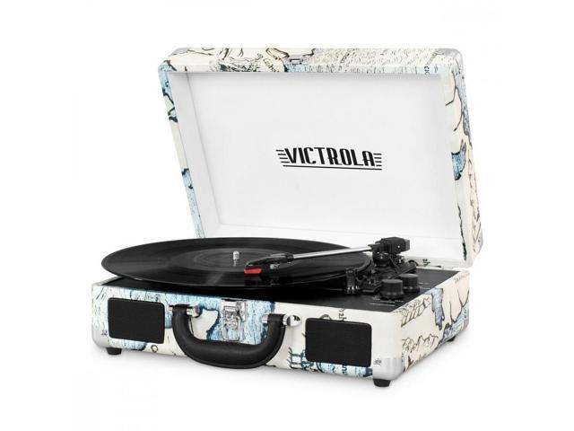 Innovative Technology INN-VSC-550BT-P4 Bluetooth Suitcase Turntable in Map Prin (225541701906 Electronics Audio Audio Components) photo