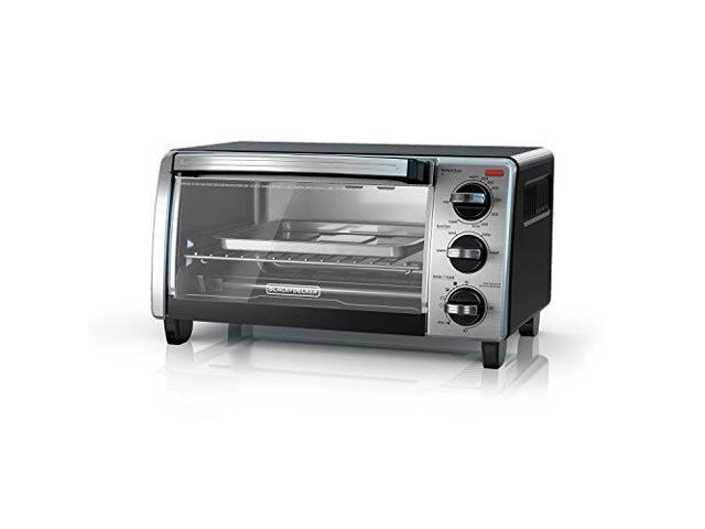 Black & Decker TO1750SB 4-Slice Toaster Oven, Silver & Black photo