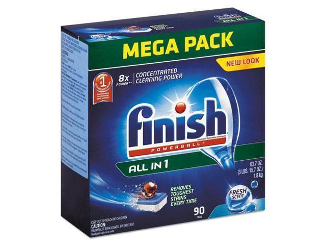 FINISH Powerball Dishwasher Tabs Fresh Scent 90/Box 4 Boxes/Carton 89729CT photo