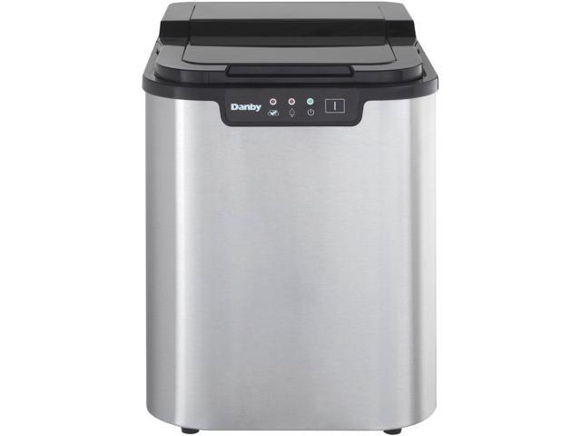 Danby 2-Pound Capacity Electric Self-Cleaning Portable Spotless Steel Ice Maker photo