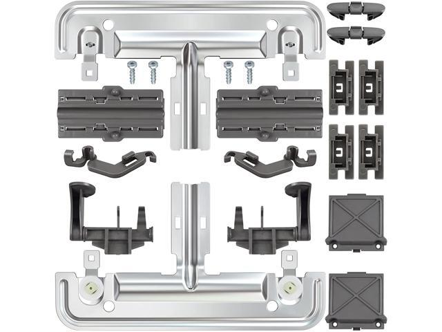 S-Union Upgraded 20 PCS W10712395 Dishwasher Upper Rack Adjuster Metal Kit & Compatible with kenmore whirlpool kitchen aid, Dishwasher Parts. photo