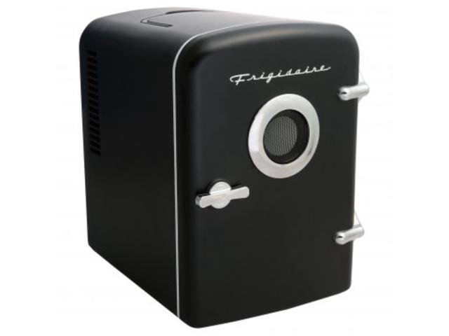 Frigidaire EFMIS151-BLACK 6-Can Retro Portable Beverage Refrigerator with Bluetooth Speaker photo